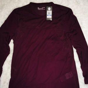 Under Armour Burgundy Camo Long Sleeve Shirt sz XL